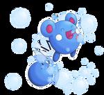 Azurill Use Bubble by ShinyOotachi