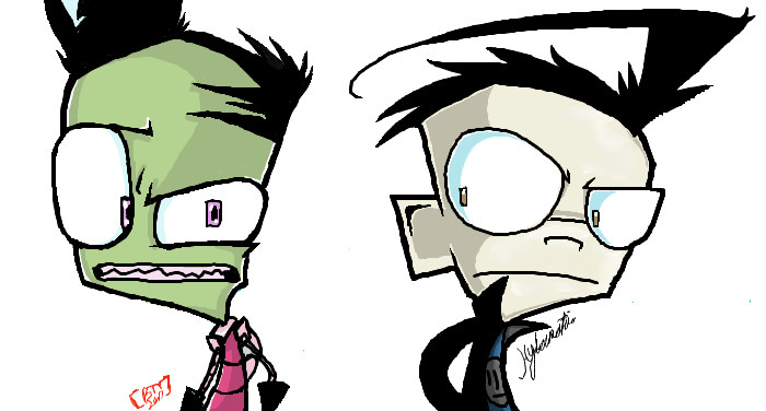 Zim n' Dib by Invader--ZIM