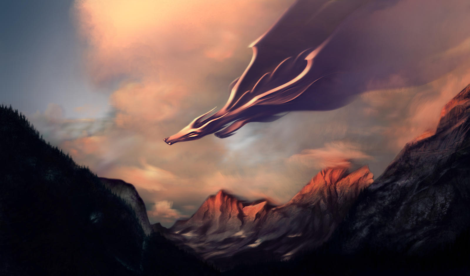 Dragons in Sunset 1a - Dragons Wallpaper (40993230) - Fanpop |Dragons And Sunsets