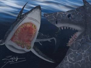 Jaws vs Deep Blue Sea