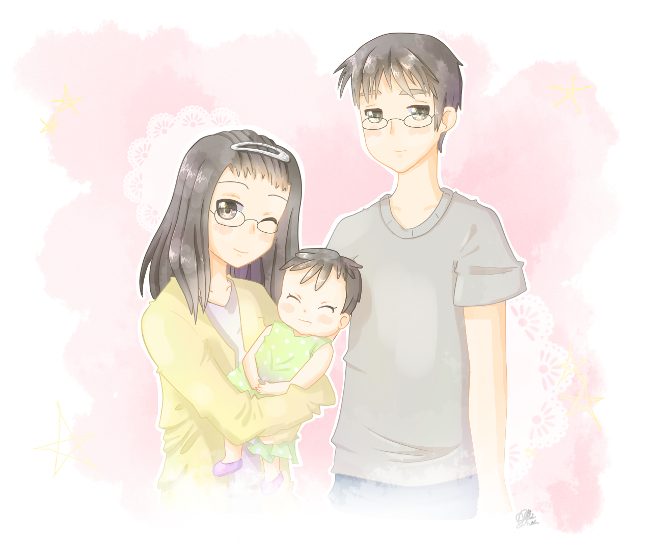 Sweet Family by XieChea