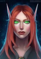 Blood Elf Female Portrait by marina-umi