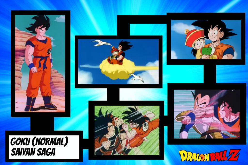 Goku (normal) saiyan saga wallpaper by SHS05 on DeviantArt