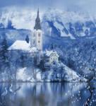 Winter Castle 2 premade background