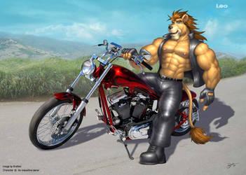 Biker Kitty by BRAFORD