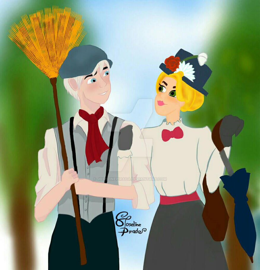 Jackunzel Mary Poppins AU by JoselinePirada