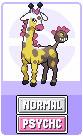 Girafarig evolution: kirinirik