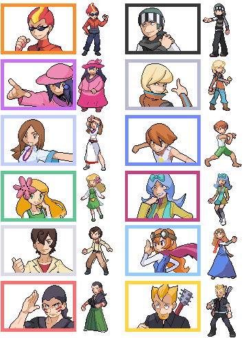 Pokemon HGSS Gym Leader Gender-Bender by Akuma-Tsubasa on