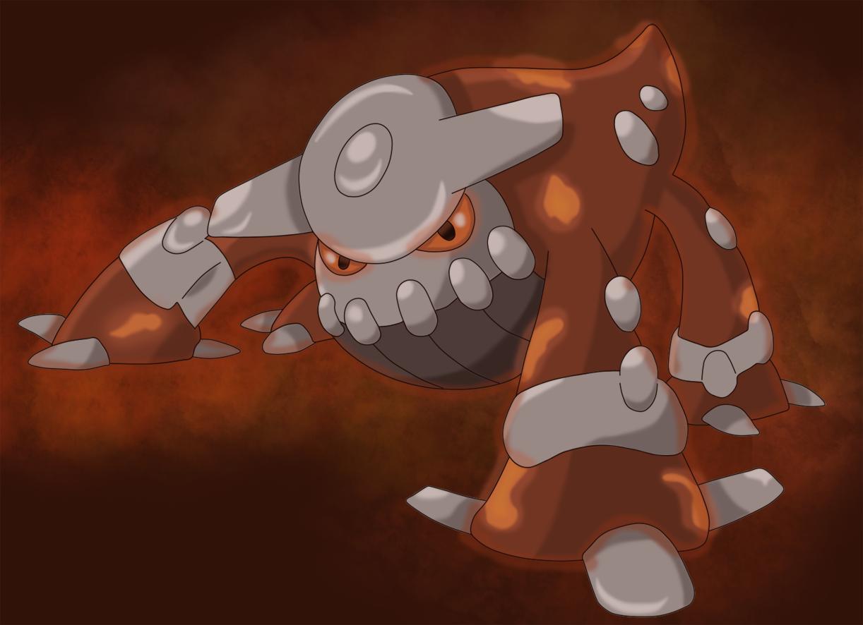 fiery magma heatran by sindorman on deviantart