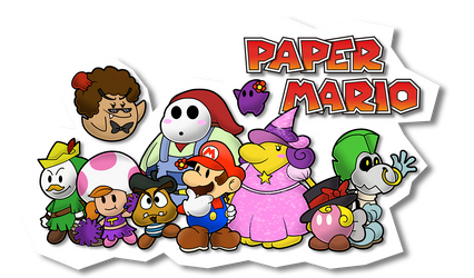 Paper Mario fan partners by Sindorman