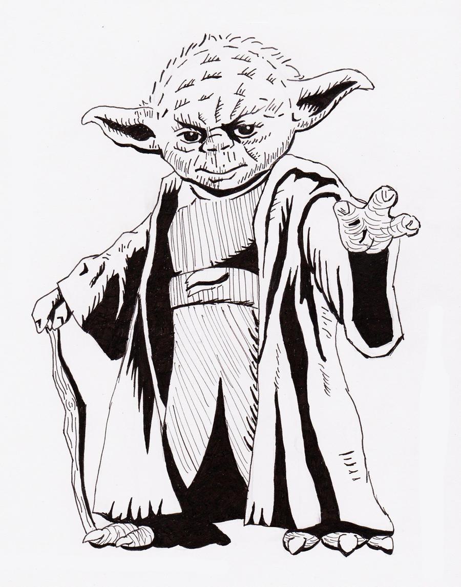 Line Art Yoda : Size matter s not yoda by sindorman on deviantart