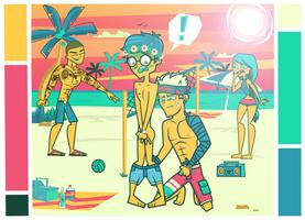 Dangan Academy: Ch. 2   Beach Bum by BlueFriday8