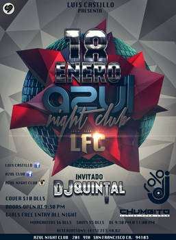 Azul Night Club Flyer