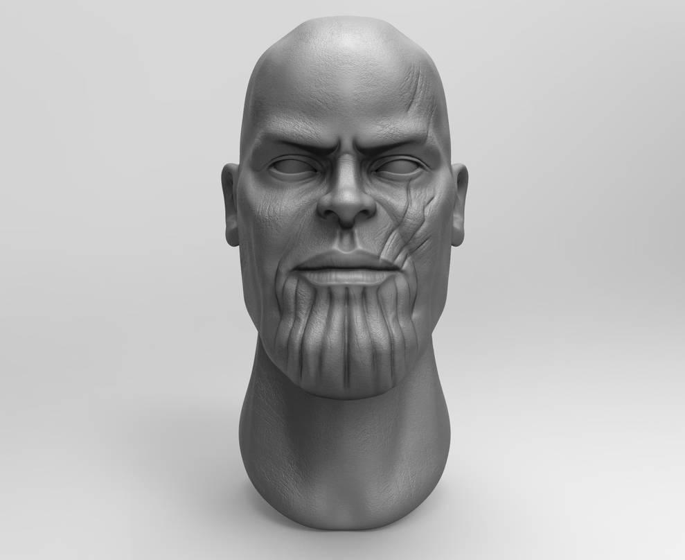Zbrush - Thanos Fan Art by eddieswan