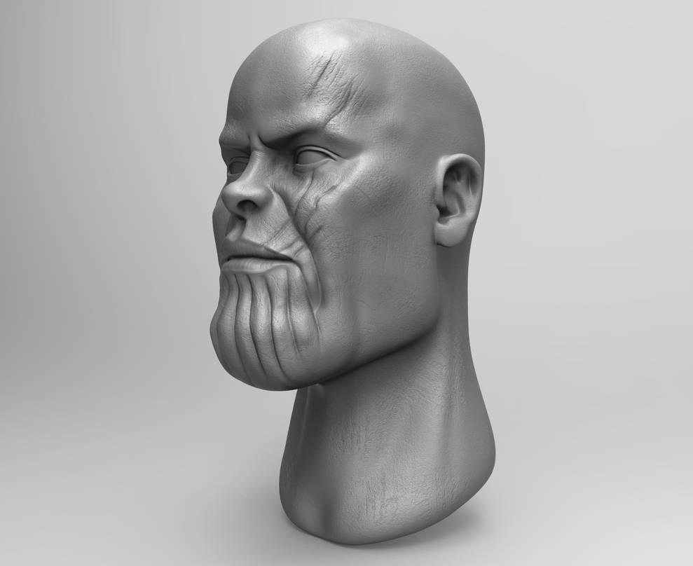 Zbrush - Thanos Fan Art (2) by eddieswan