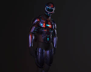 Robot Led Suit - Zbrush, Marmoset