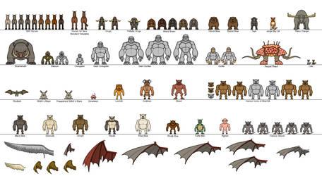 Minihero Creatures, Beast-People and Wings