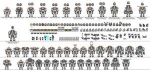 Space Marine Mini Templates