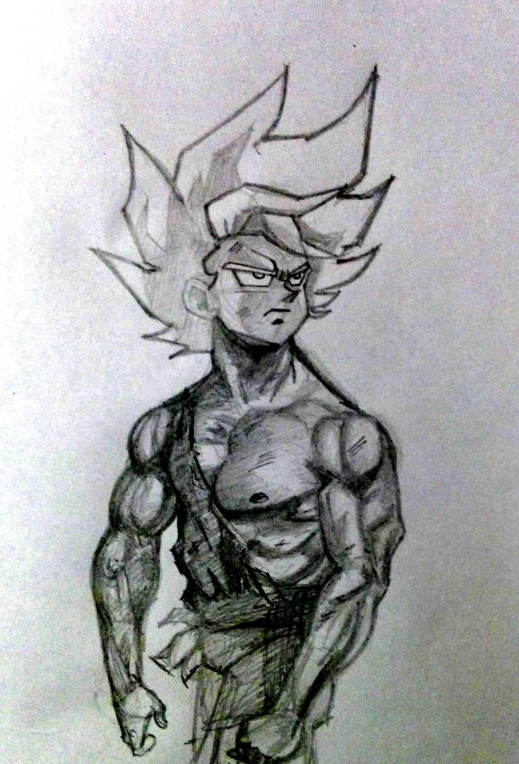 Goku pencil drawing practice by shashidhar90