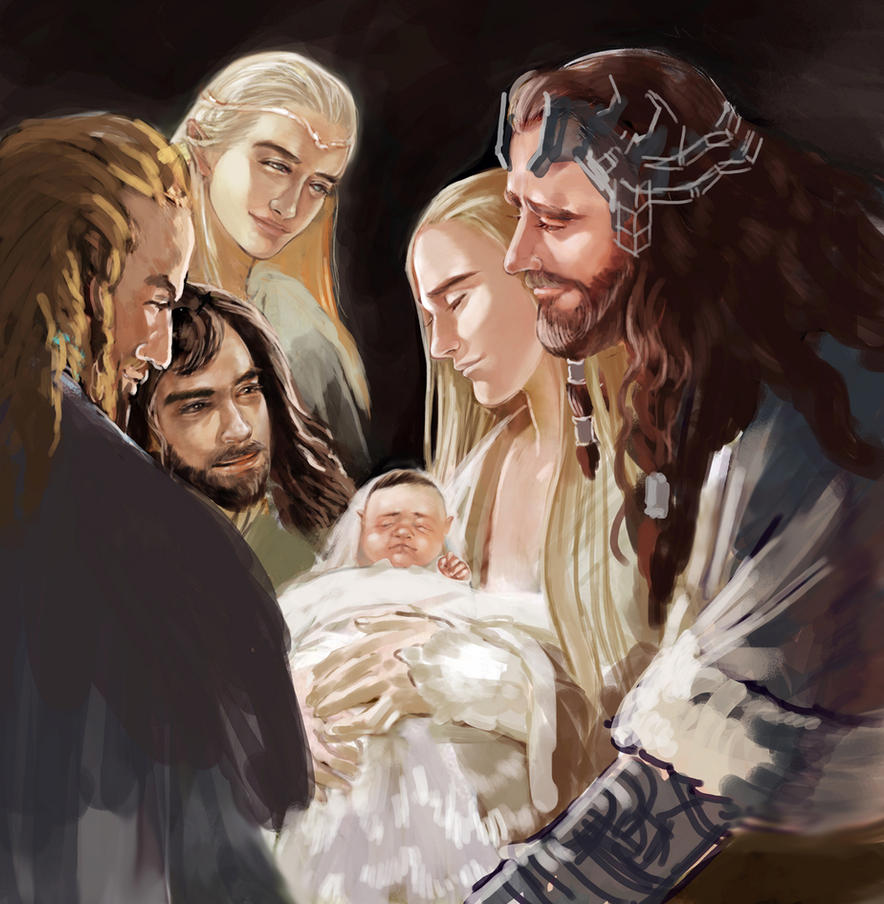 The Hobbit : Loyal Family_in progress by Rosalind-WT