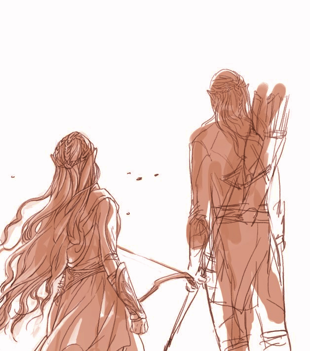 Legolas and Tauriel and othes would appear latter by Rosalind-WT