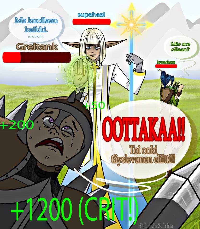 MMORPG-illustration by Tuttava