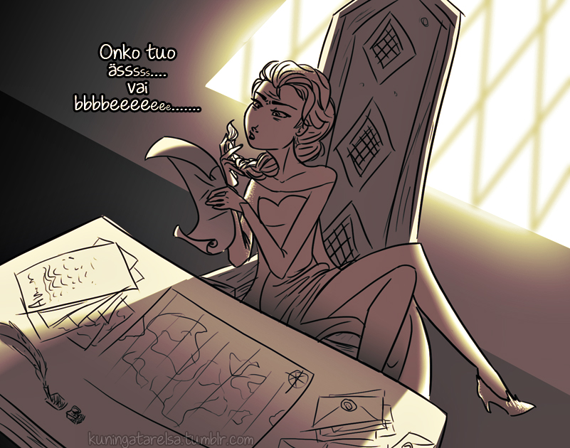 A Queen's Job is Hard by Tuttava