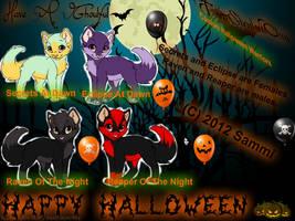 Custom Halloween Warriors! Happy Halloween! 2012 by SnowAngelSammi