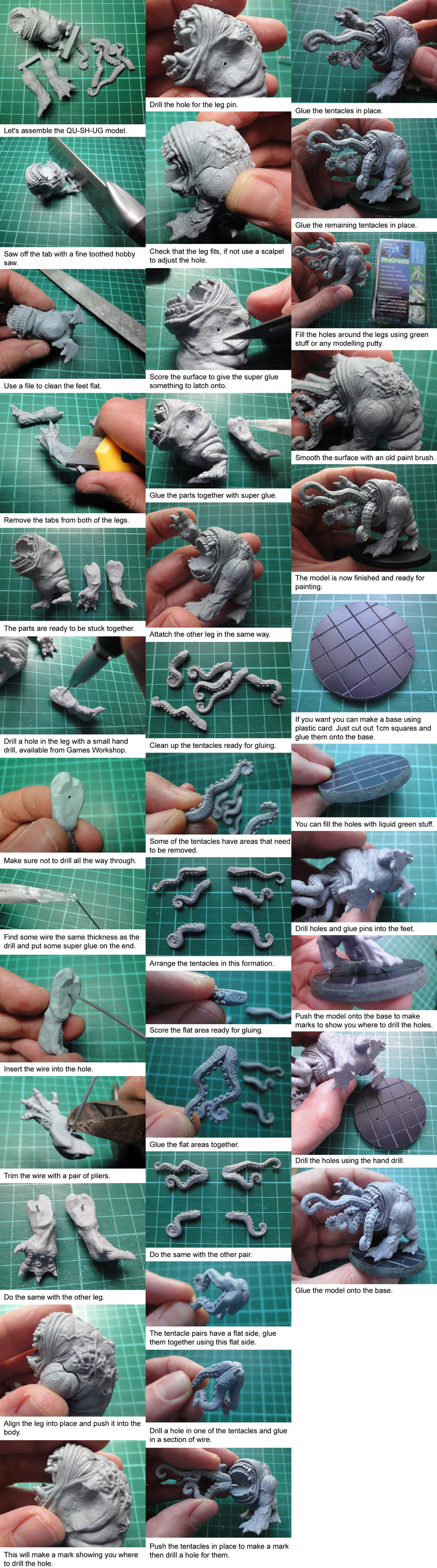 QU-SH-UG Assembly Tutorial by Pure Evil Miniatures by PureEvilMiniatures