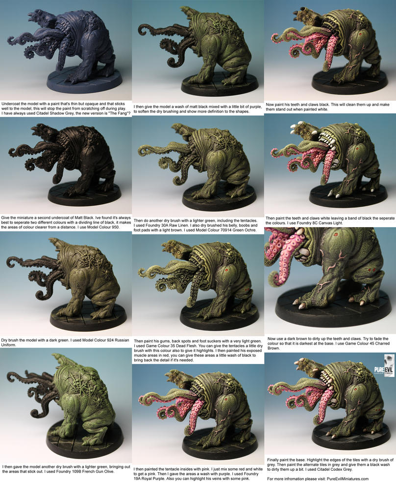 QU-SH-UG Pinting Tutorial by Pure Evil Miniatures by PureEvilMiniatures