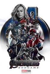 Avenger Endgame (Fanmade Poster) by KeenbeetalART