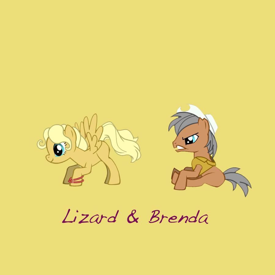MLP: Lizard and Brenda by littleclover16 on DeviantArt