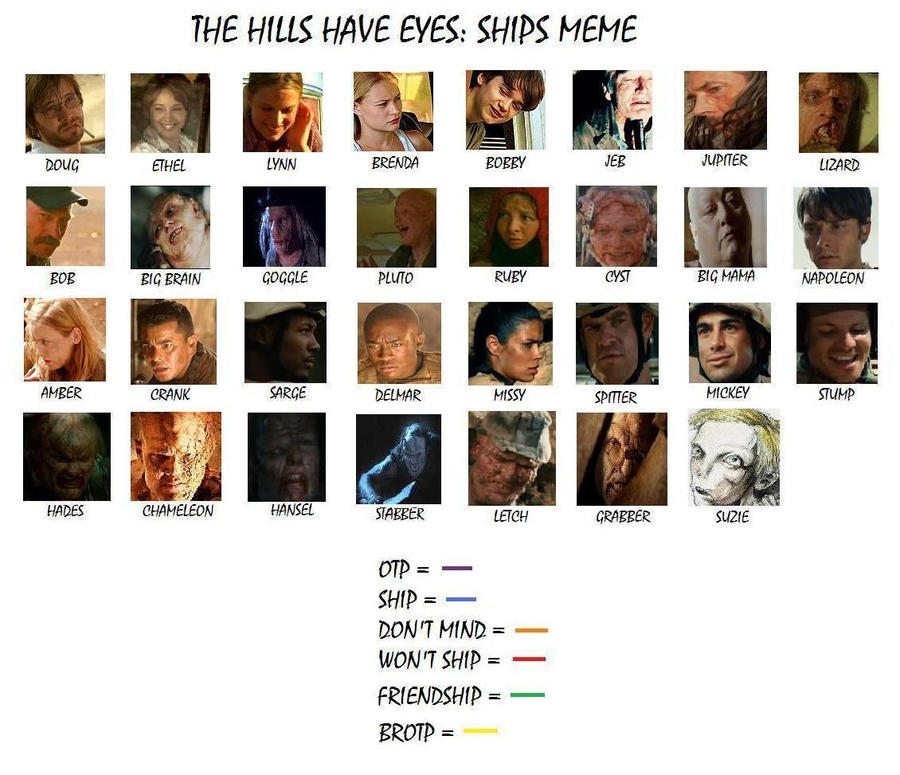 The Hills Have Eyes: Ship Meme by littleclover16 on DeviantArt The Hills Have Eyes Lizard