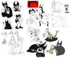 bendy doodle dump 2 by jujufoxfire