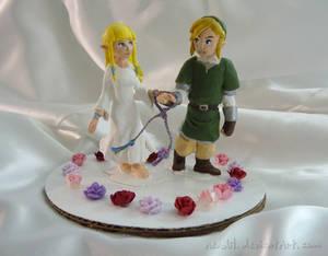 Zelda wedding cake toppers