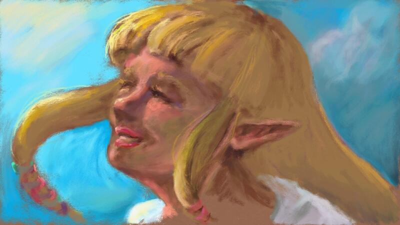 Art Academy - breezy Zelda by Nendil