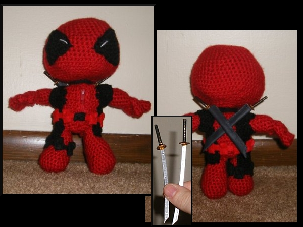 Amigurumi Crochet Dress Pattern : Deadpool Amigurumi by Beileil on DeviantArt