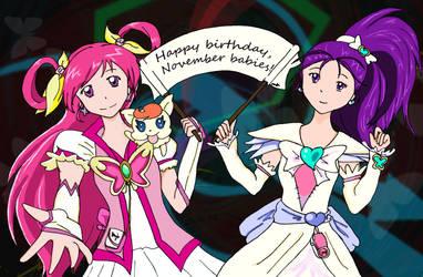PreCure Fanart: Happy Birthday 2012 (take 3) by Ponyta
