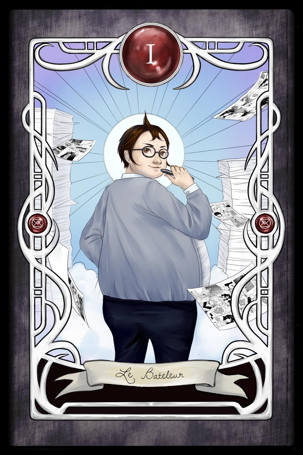 [Dangan Tarot] I - The Magician by luciferousLimner