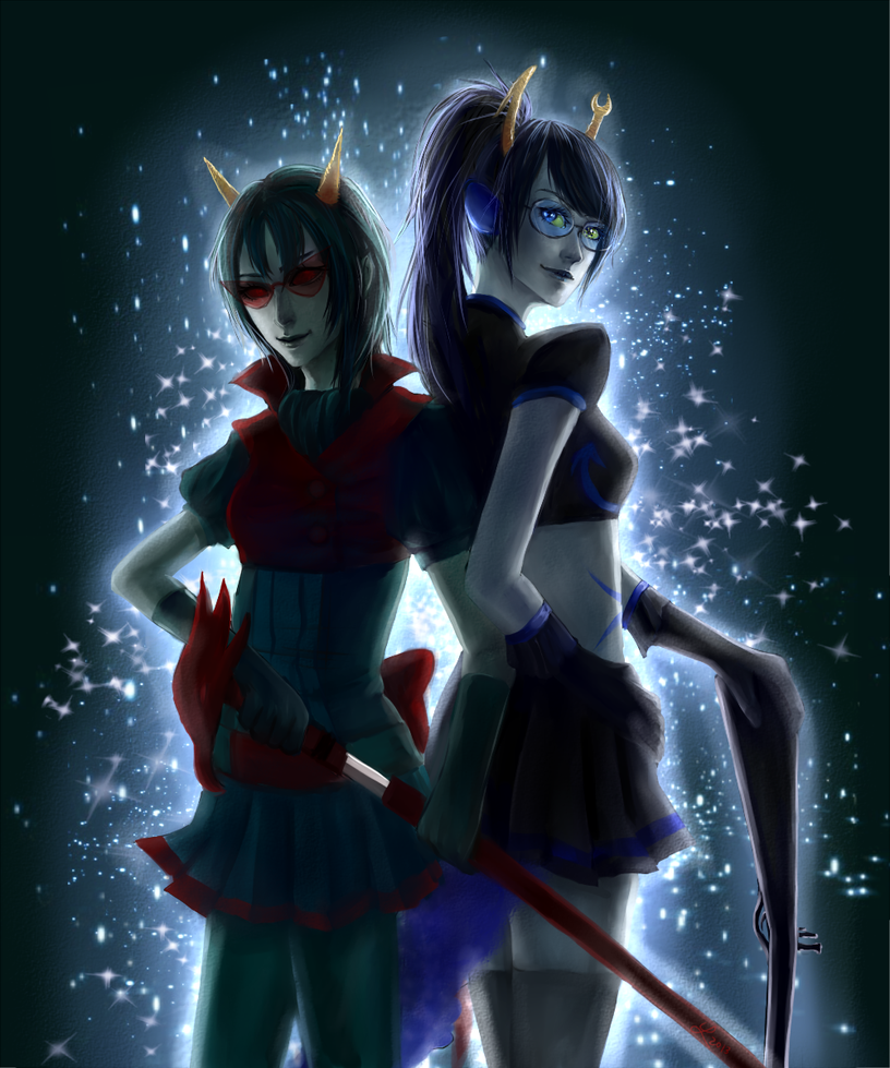 magicastuck :: scourge sisters by luciferousLimner