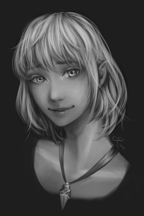 Aurelie  by luciferousLimner