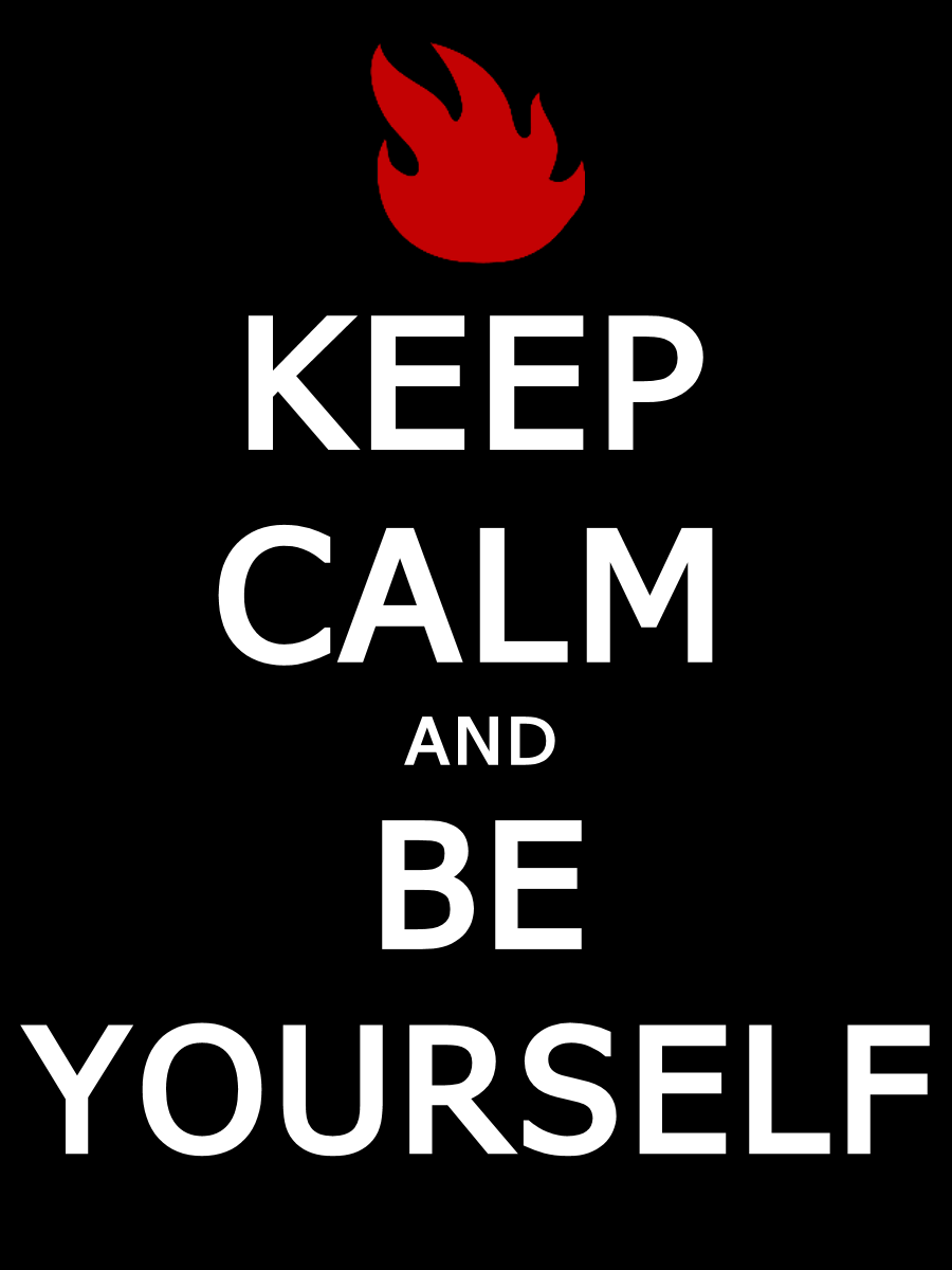 Audioslave keep calm and be youself by font4na on deviantart
