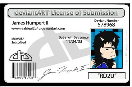 dA License by realdeal2u4u