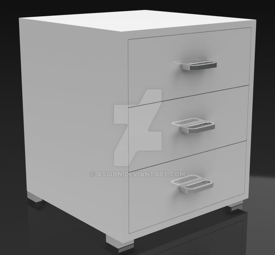 Clean Chest of Drawers by Asijan