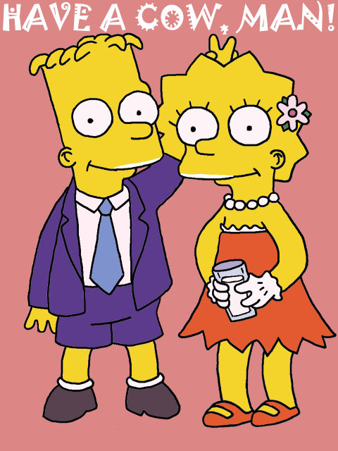 Bart and Lisa Simpson by shinigami-of-nny
