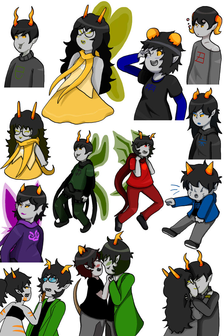 Chinese Zodiac Fantroll Doodles by timehwimeh