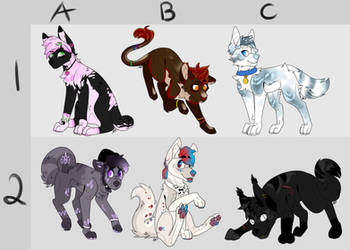 Adoptables Sheet [5/6 OPEN] by doqhovse