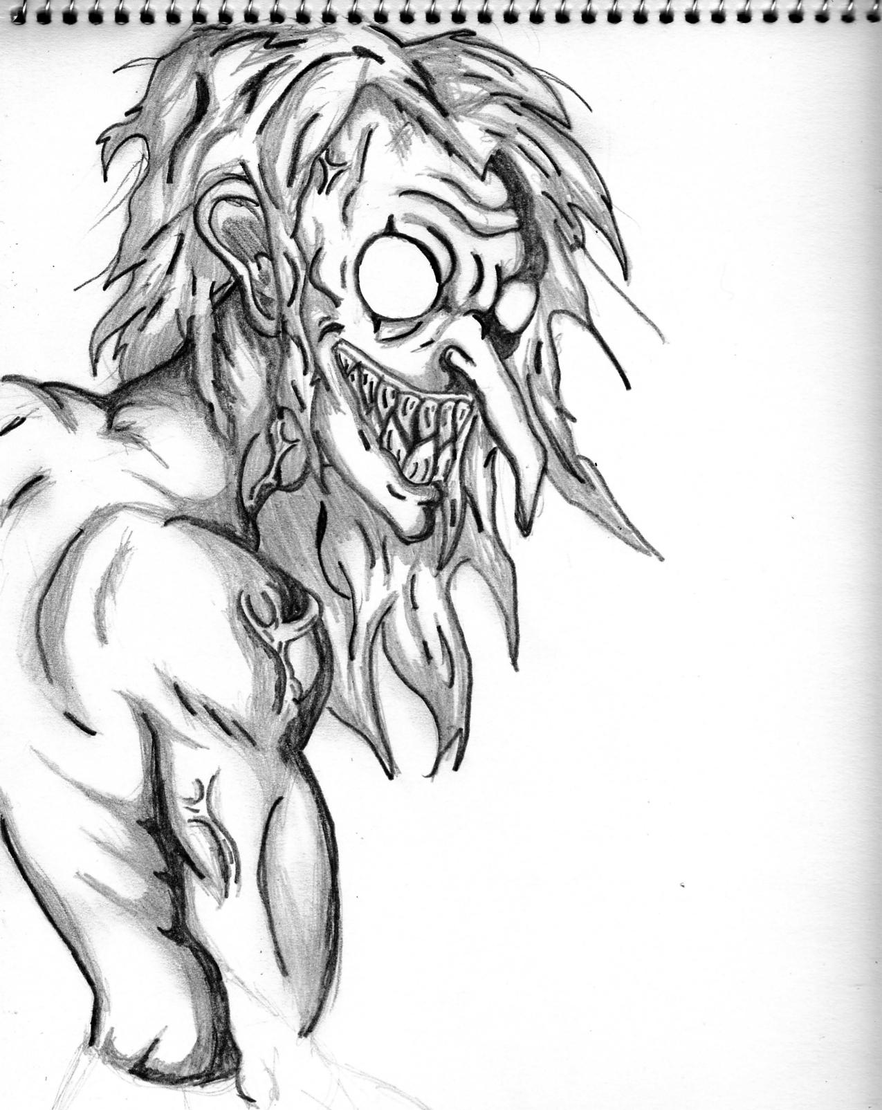 Scary Clown Drawing: Evil Clown By Kziel On DeviantArt