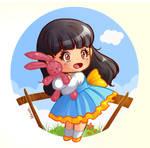 a cute chibi girl