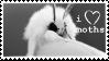 I Love Moths Stamp